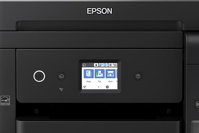 Epson WorkForce ET-4750 EcoTank control panel
