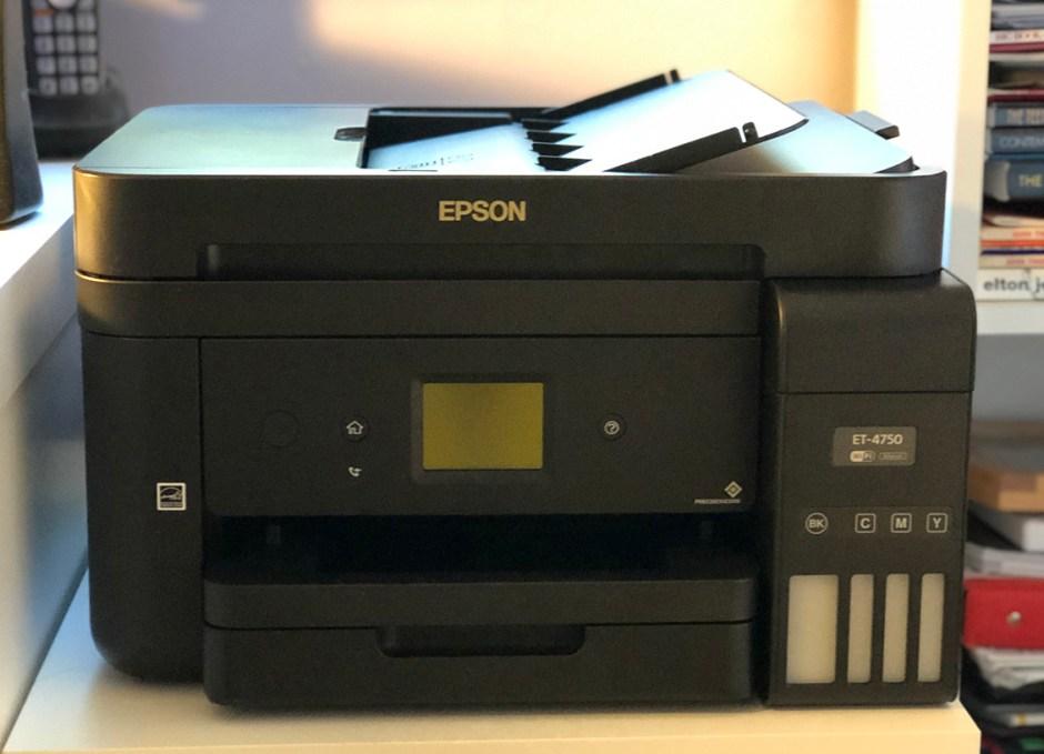 Epson WorkForce ET-4750 EcoTank front face