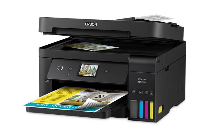 Epson WorkForce ET-4750 EcoTank left paper lid open
