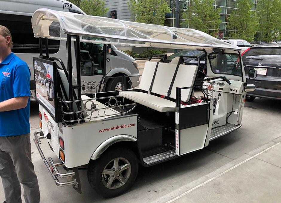 eTuk tour tuk tuk vehicle