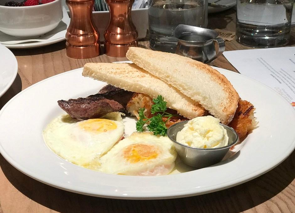 Corinne Restaurant Denver Colorado Steak and Eggs