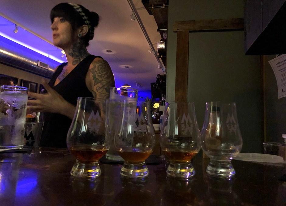 Raise A Glass Manatawny Craft Spirits Tasting Room Bartender and Whiskey