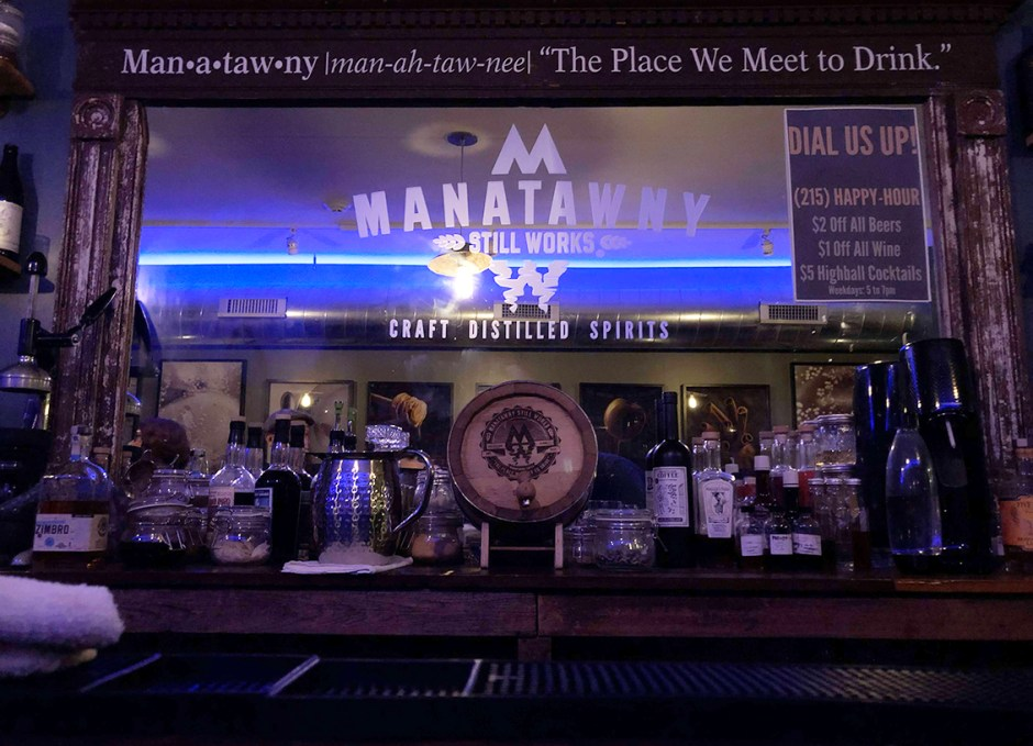 Raise A Glass Manatawny Craft Spirits Tasting Room Behind Bar