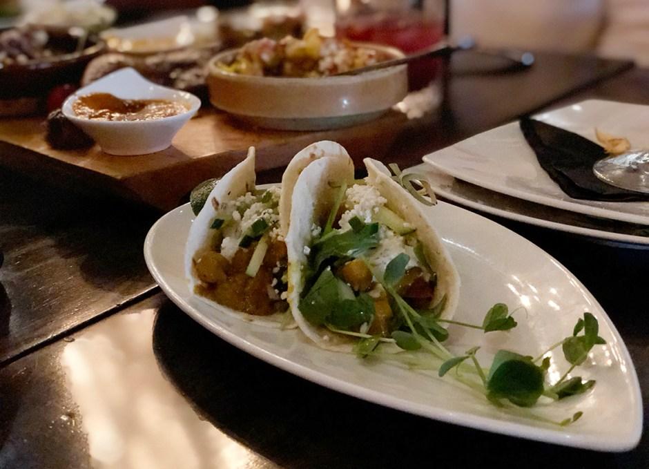 Taste Of Burlington Barra Fíon Tapas & Barrel curried chickpea tacos