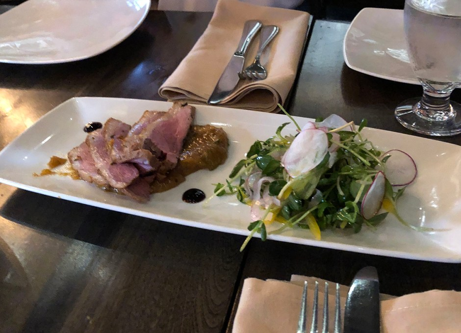 Taste Of Burlington Barra Fíon Tapas & Barrel smoked duck