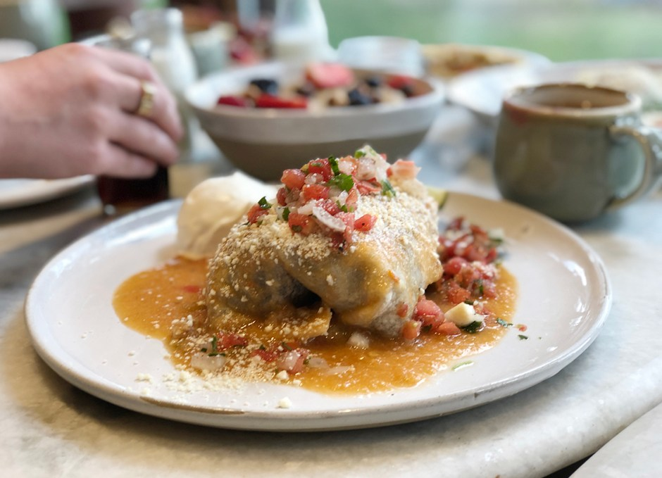 latitude 105 breakfast burrito