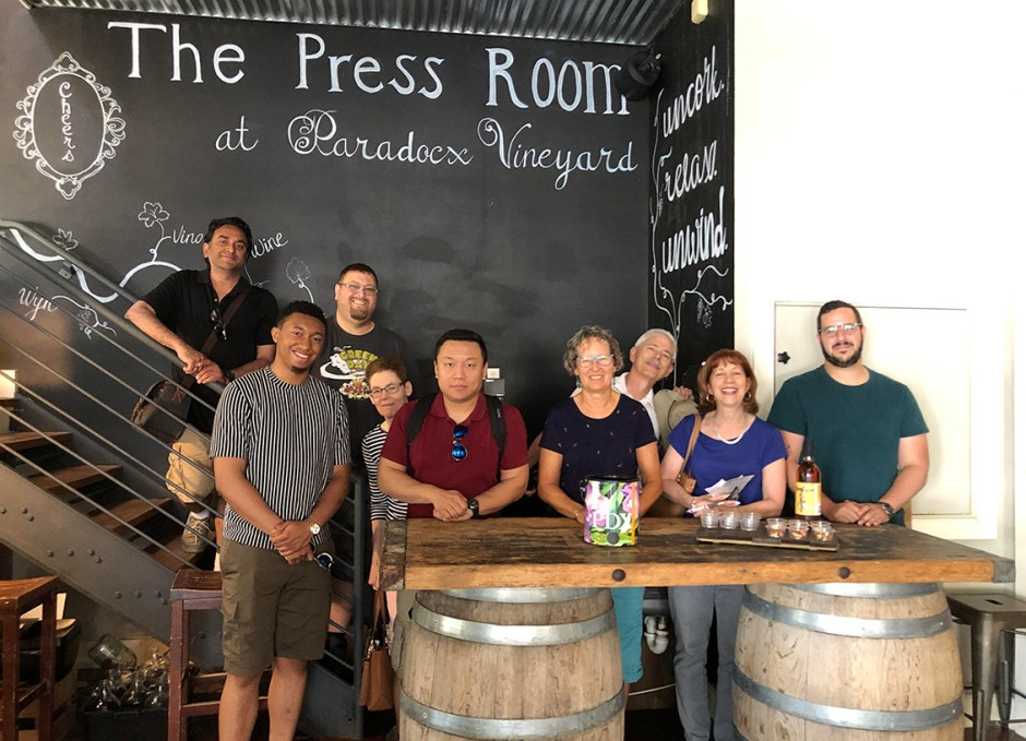 paradocx vineyard press room group shot
