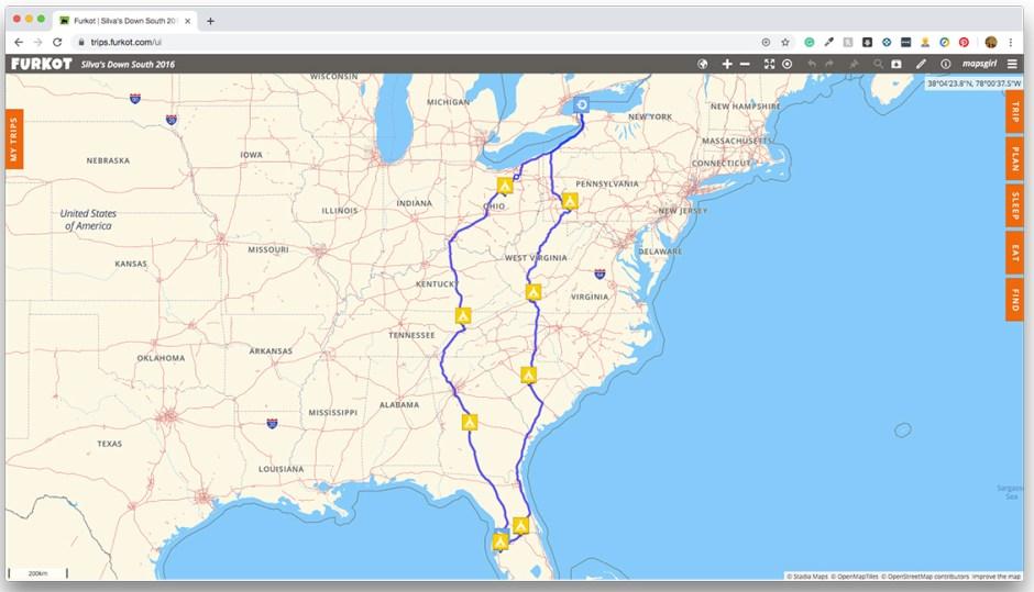 ok tire furkot trip to florida road trip