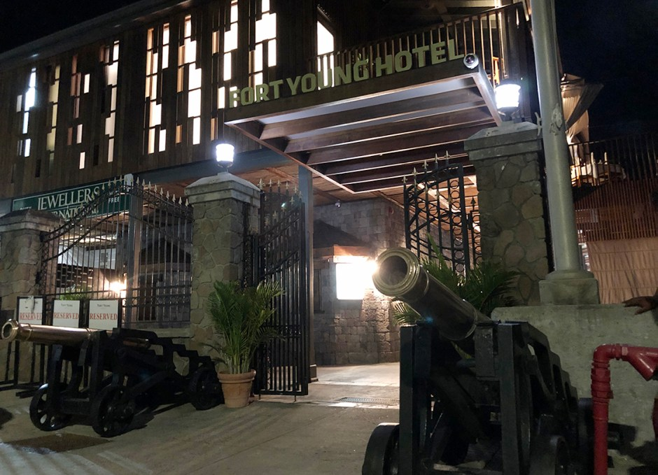FORT YOUNG HOTEL AT NIGHT
