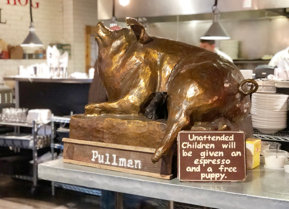 The Pullman glenwood springs colorado hog sign