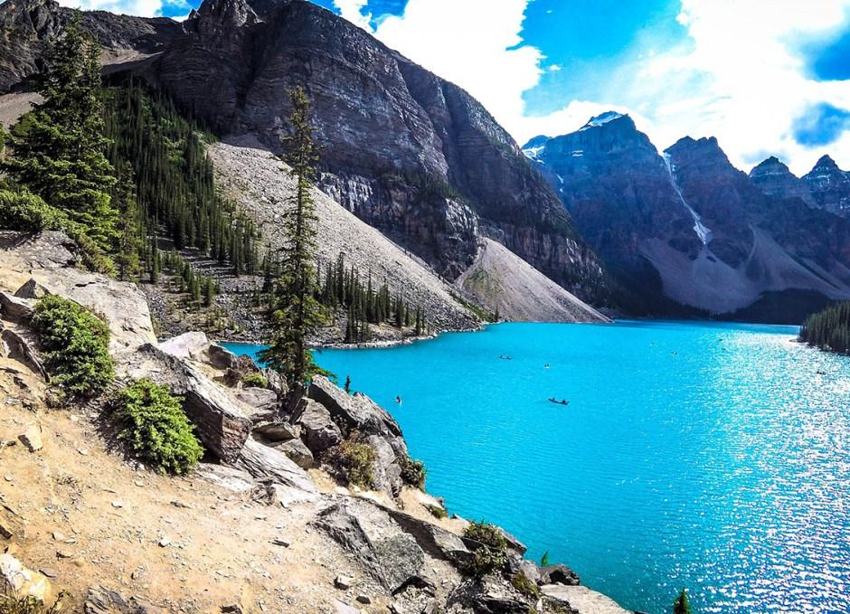 backpacking alberta moraine lake