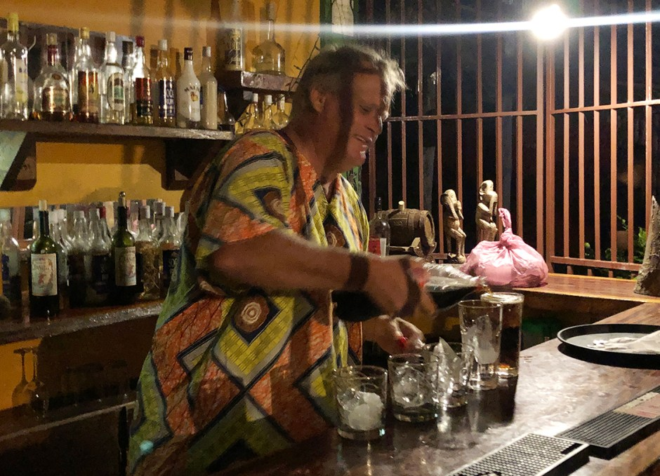 poz troy pouring peanut punch dominica