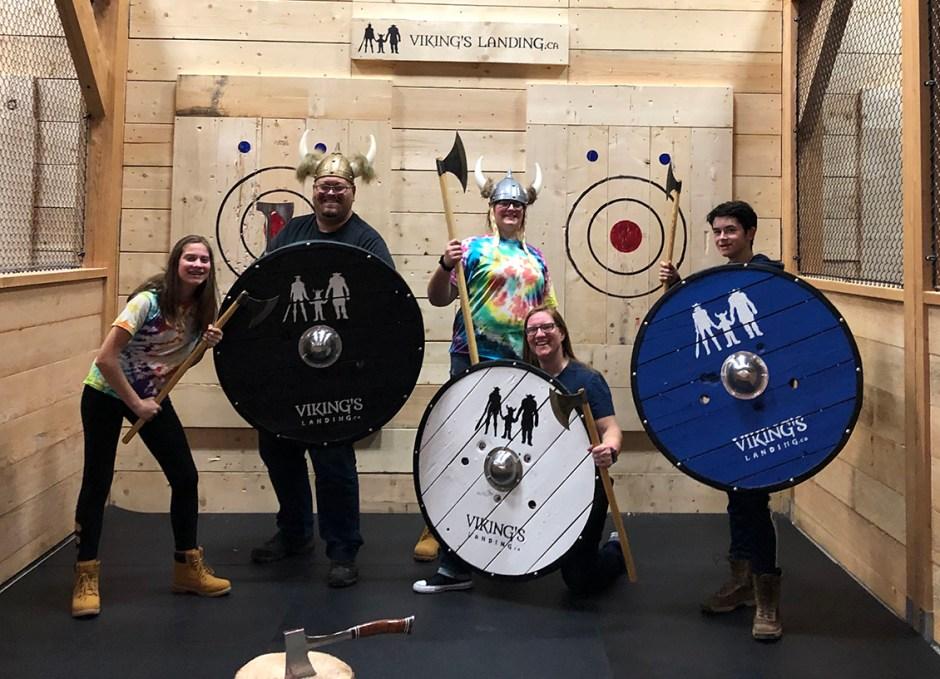 vikings landing family axe throwing virtual reality arcade