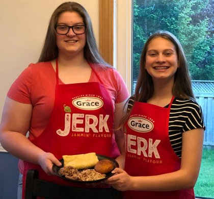 Cooking with Kids: Smoked Jerk Pulled Pork and Johnny Cakes #ad @gracefoodsca