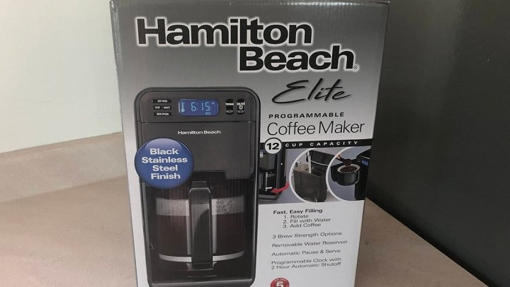 Java all day with the Hamilton Beach Elite Programmable Coffee Maker