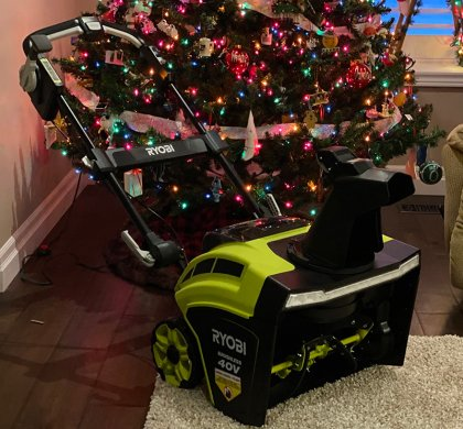 """Take Charge this Winter with the RYOBI 40V 21"""" Brushless Snow Blower!"""