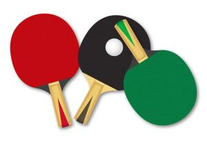 assorted ping pong paddles