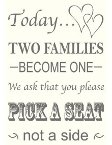 Two Families Sign - Ivory
