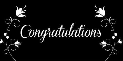 Congratulations Banner - Black