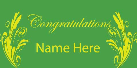 Congratulations Banner - Green