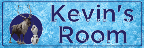 Frozen Olaf & Sven - Bedroom Door Sign