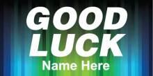 Good Luck Banner - Stripes