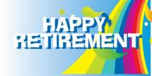 Retirement Banner - Rainbow