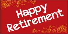 Retirement Banner - Red