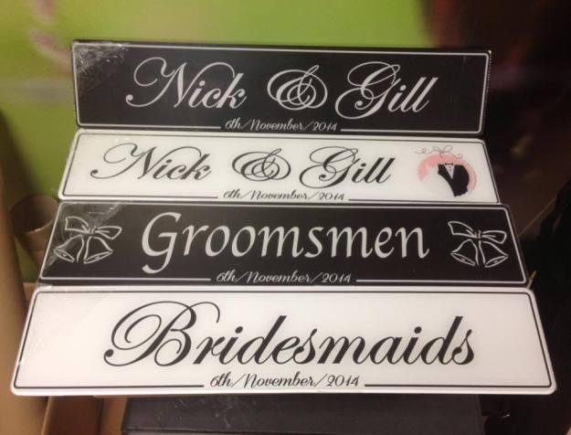 His & Her Black Wedding Number Plate