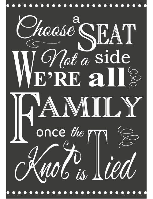 Choose A Seat Sign - Charcoal