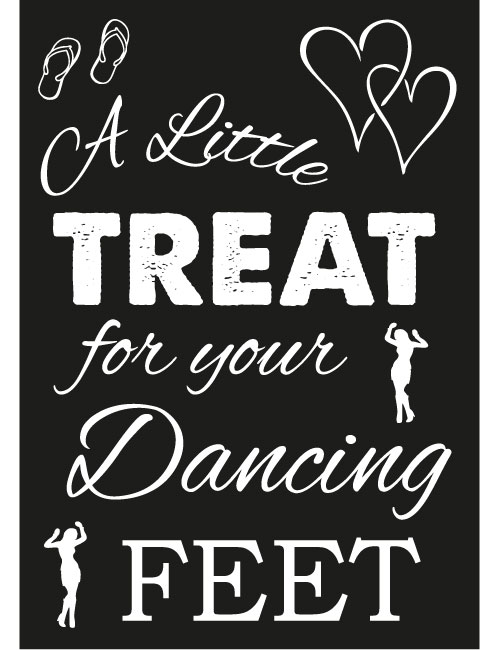 little treat sign for wedding