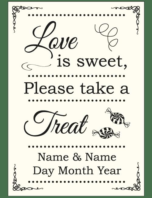 Sweet Treat Sign - Ivory