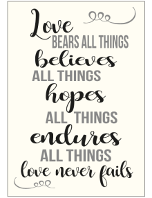 Love Bears All Things Sign - Ivory