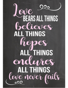 Love Bears All Things Sign - Chalk