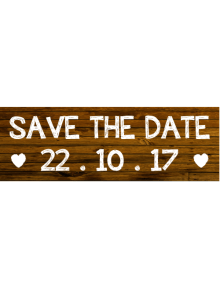 Save The Date Sign - Wooden