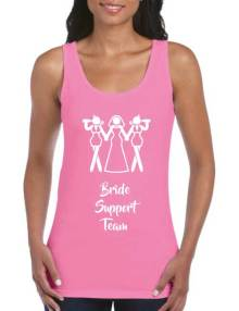 bride support hen t-shirt