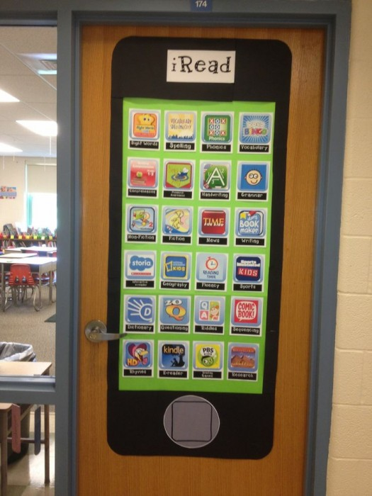 Technology And Learning Look Pretty Good Together Iphone Classroom Door Decoration