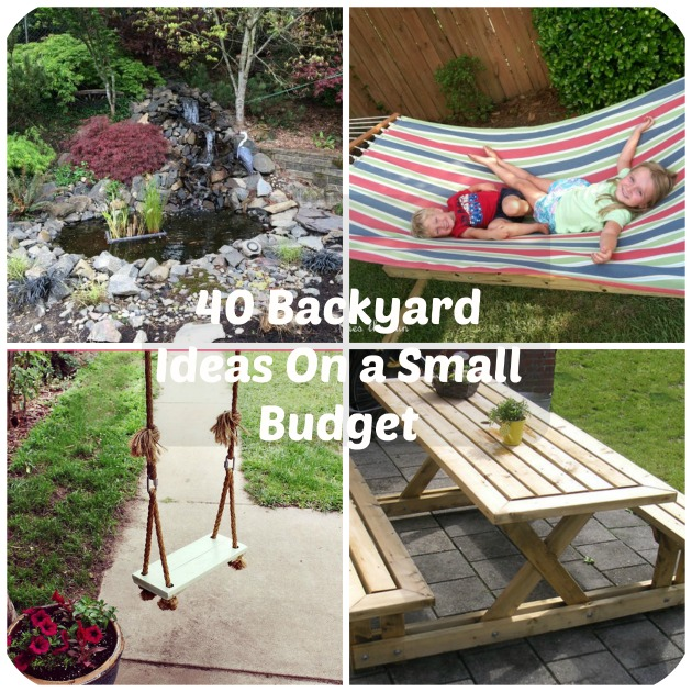 40 DIY Backyard Ideas On a Small Budget on Small Backyard Patio Ideas On A Budget id=85503