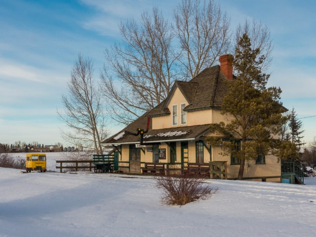 Rowley Alberta Then And Now CNR Station Off The Beaten