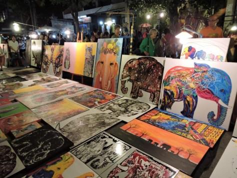 chiang mai gece pazarı