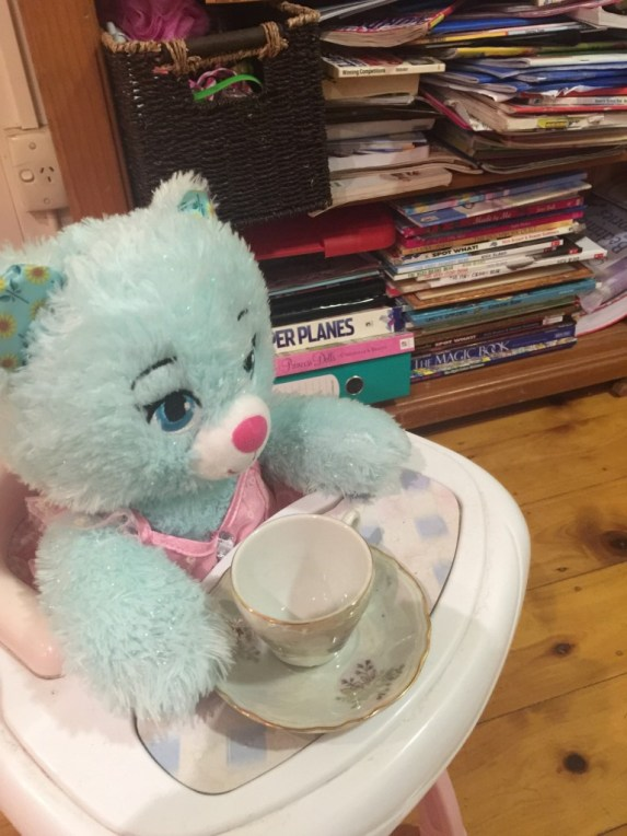 I was THRILLED to learn Emmerina was included in a tea party this afternoon, only to learn Miss8 had invited her.