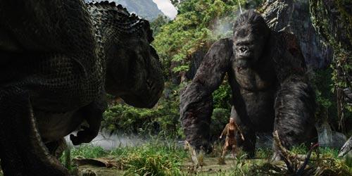King Kong T Rex Battle Movies Films Motionpictures