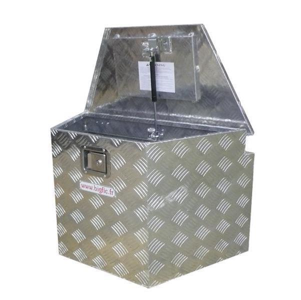 coffre aluminium trapeze 130l dimensions 860 480 x 460 x 470 mm