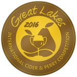 Gold medal - Great Lakes Cider Competition - 2016