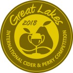 Gold Medal - Great Lakes Cider Competition - 2018