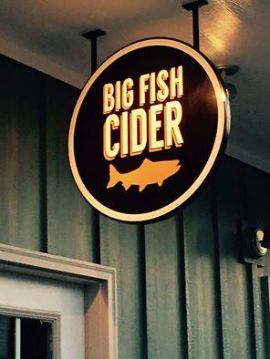Big Fish Cider Sign