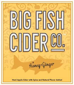 Big Fish Cider Co. Honey-Ginger label