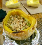 Recipe: Chicken & Broccoli Casserole in a Sweet Potato Squash Shell