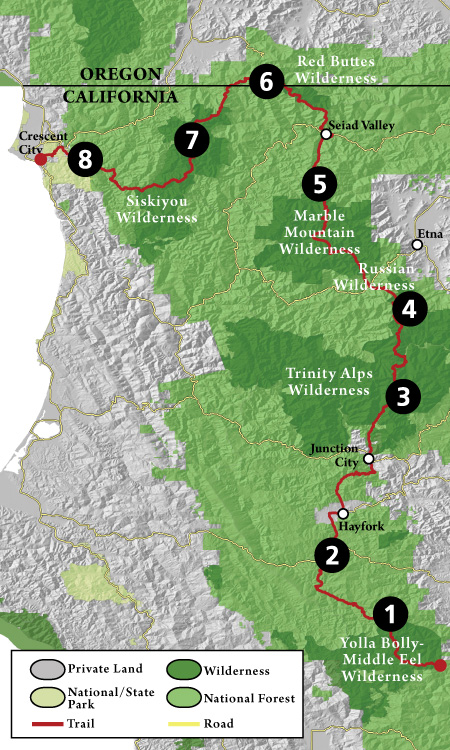 Bigfoot Trail Sections