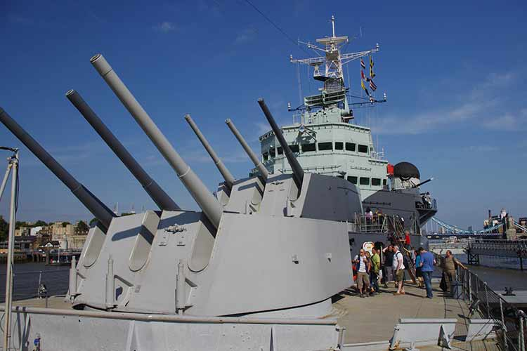 HMS Belfast close view